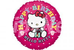 KITTY生日粉紅氣球