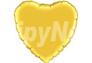 9吋金色心型電鍍塑膠氣球