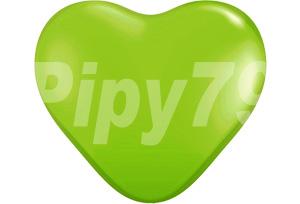 12吋萊姆綠色心型氣球