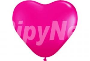 12吋玫瑰色心型氣球
