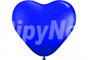 12吋藍色心型氣球