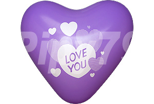 12吋LOVE YOU紫色心型氣球