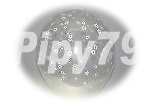12吋小花花紋透明圓型氣球