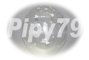 12吋愛心花紋透明圓型氣球