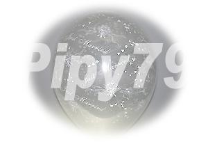 12吋捧花花紋透明圓型氣球