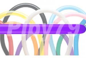 135HB紫色長條氣球