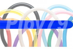 135HB藍色長條氣球