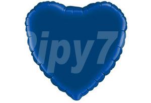 18吋藍色心型電鍍塑膠氣球