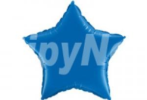 18吋藍色星型電鍍塑膠氣球