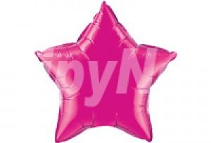 24吋玫瑰色星型電鍍塑膠氣球