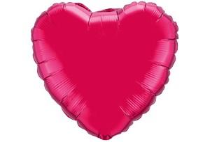 18吋玫瑰色心型電鍍塑膠氣球