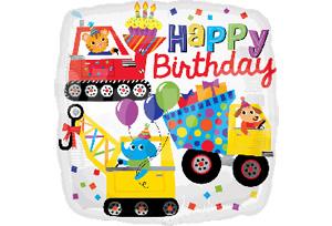 動物工程車生日快樂