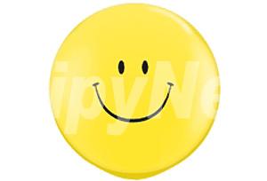 36吋黃色笑臉圓型氣球