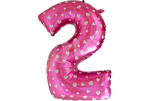 40吋數字2粉紅色