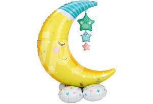 月亮星辰站立氣球