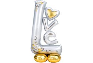 白色愛情站立氣球