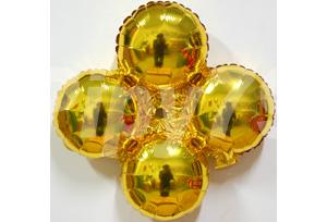 金色小四輪圓