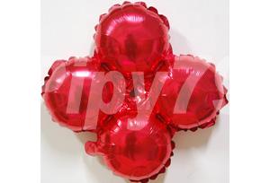 紅色小四輪圓
