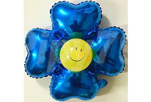 藍色小四輪花