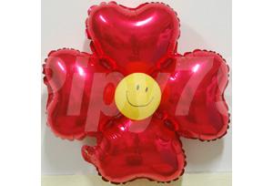 紅色小四輪花