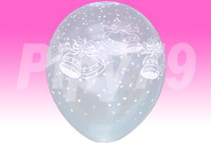 12吋鈴鐺花紋透明圓型氣球