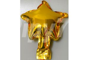 5吋金色星型電鍍塑膠氣球