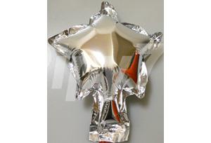 5吋銀色星型電鍍塑膠氣球