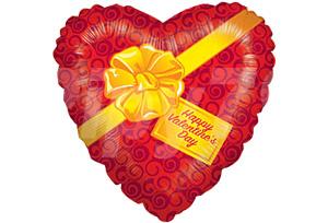 金緞帶快樂情人節