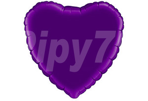 18吋紫色心型鋁箔氣球