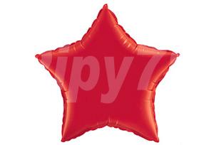 18吋紅色星型電鍍塑膠氣球