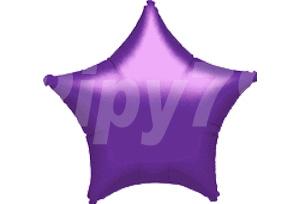 18吋紫色星型電鍍塑膠氣球