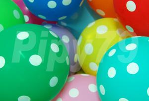 12吋綜合色點點氣球
