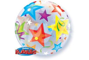 燦爛星星透明泡泡耐久氣球