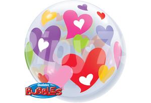 五彩繽紛愛心透明泡泡耐久氣球