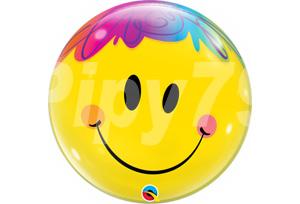 快樂笑臉透明泡泡耐久氣球