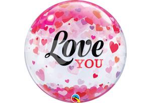 Love YOU愛心透明泡泡耐久氣球