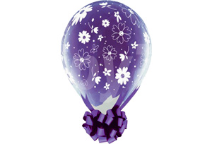 18吋雛菊透明圓型氣球