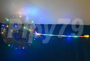 18吋波波LED球桿告白氣球