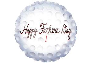 父親節快樂高爾夫球