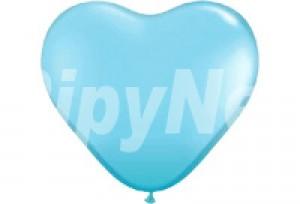 10吋淺藍色心型氣球