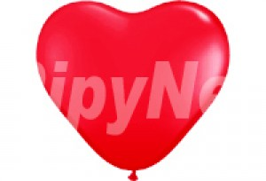 10吋紅色心型氣球