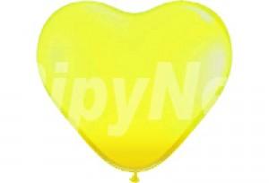10吋黃色心型氣球