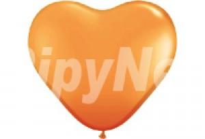 10吋橘色心型氣球
