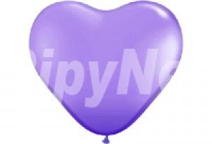10吋紫色心型氣球
