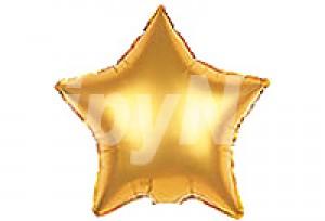 9吋金色星型電鍍塑膠氣球