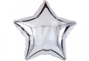 9吋銀色星型電鍍塑膠氣球