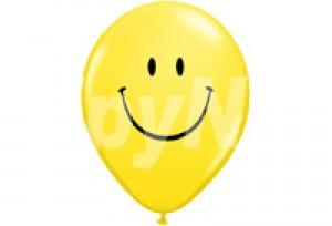 10吋黃色笑臉圓型氣球
